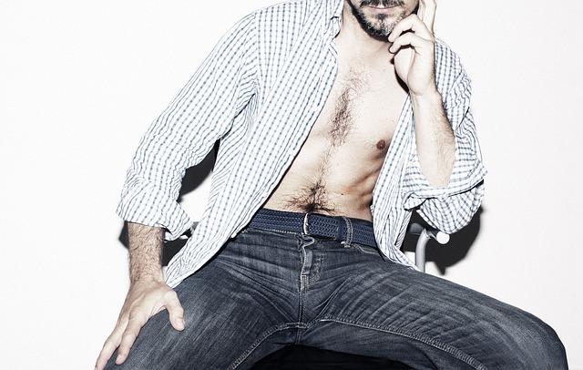 Jeans Sexy Fashion Person Body Male Vogue Man